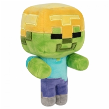 Minecraft Happy Explorer Gold Helmet Zombie Plush Toy