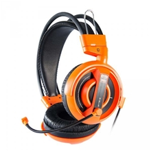 E-Blue, Cobra I, Gaming Headset with Microphone, Orange, 3.5mm Jack (PC)