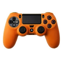 Silicone Protective Case (Orange) (PS4)