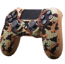Silicone Protective Case Brown Camouflage Style (PS4)