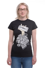 T-Shirt IGN Controller Women - black