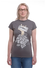 T-Shirt IGN Controller Women - gray