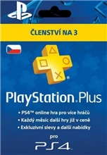 Playstation Plus 90 Days CZ (PS4)
